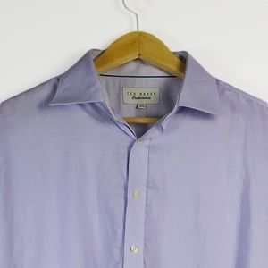 TED BAKER Mens Purple Endurance Shirt 16.5/L $128